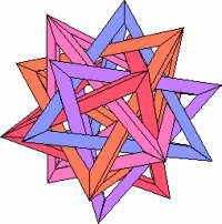 Robert Webb's 5 intersecting Tetrahedra